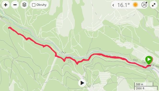 trasa podľa Petra Remiho - čermeľ - mapa