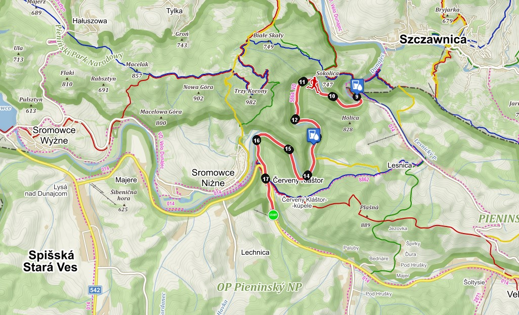 Trasa podľa Laca Šimka (Prešovský kraj) - mapa