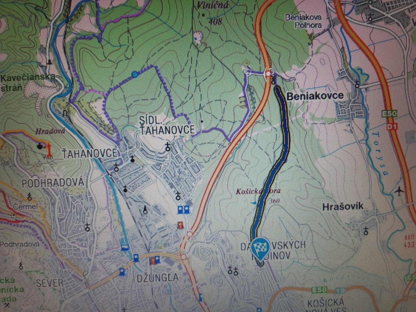trasa Peter Buc - mapa